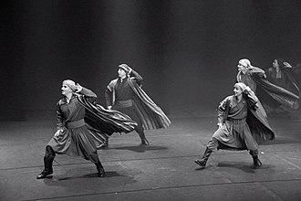 Dabke - Men dancing Palestinian dabke