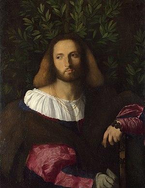 Palma Vecchio - Portrait of a poet by Palma il Vecchio