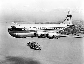 Boeing 377 Stratocruiser - Image: Pan Am Stratocruiser San Francisco
