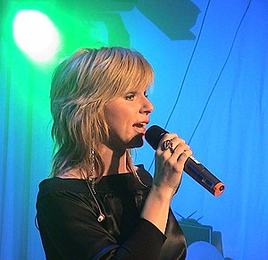 On a Night Like This - Swedish singer Pandora (pictured) initially recorded the single for her 1999 studio album, but its rejection resulted in Minogue and Anna Vissi re-recording it.