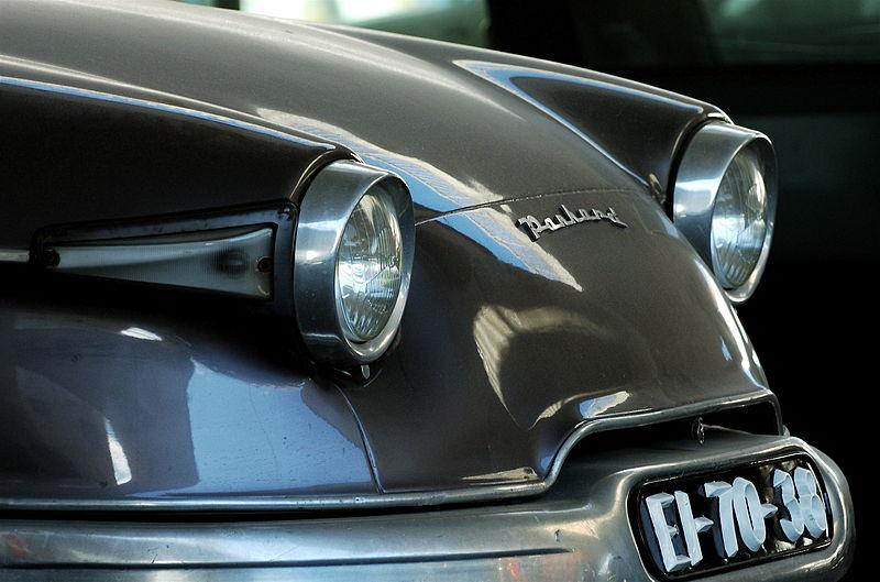File:Panhard car front in B&W.jpg