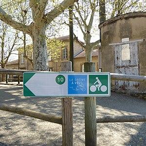 panneau de la Drôme à vélo