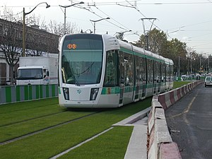 Île-de-France tramway Lines 3a and 3b - Image: Paris tramway