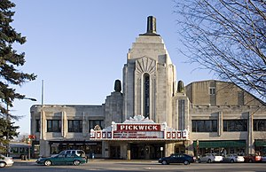 Park Ridge, Illinois - The Art Deco Pickwick Theatre, in uptown Park Ridge