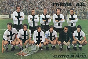 Parma Calcio 1913 - 1973–74 Parma in its classic Crociata shirt