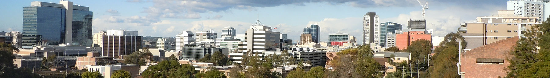 Parramatta skyline from the west August 2012 Banner.jpg