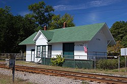 Historic Train Station in Patrick, 2009