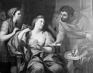 Dronning Semiramis som sværger ikke at ville rede sit hår før hun har underkuet et oprør