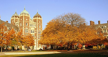 """The Quad"" in the Fall, from Fisher-Hassenfeld College House, facing Ware College House Penn campus 2.jpg"