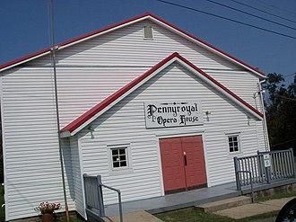 Fairview, Ohio - 1830 era building hosts Bluegrass music concerts