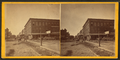 People in front of a meat store, Davenport, Iowa, from Robert N. Dennis collection of stereoscopic views.png