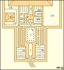 Map of Pepi I's mortuary temple