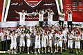 Persepolis F.C. celebrating after 2019–20 Persian Gulf Pro League trophy (33).jpg