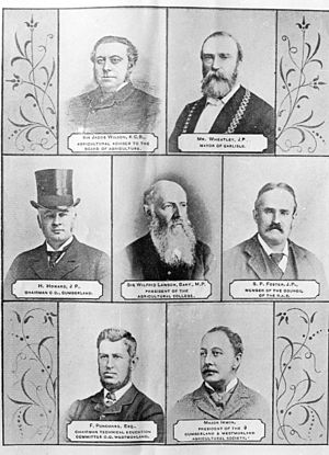 Aspatria Agricultural College - Patrons of the Aspatria Agricultural College circa 1893
