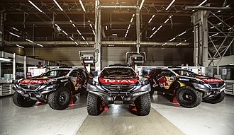 Team Peugeot Total - The presentation of the Peugeot 2008 DKR of ten team for 2014 Dakar Rally.