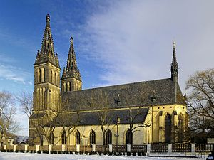 Basilica of St. Peter and St. Paul, Prague - Image: Pevnost Vyšehrad