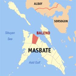 Masbate Philippines Map.Baleno Masbate Wikipedia