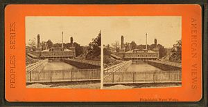 Henry Roe Campbell - Philadelphia Water Works, from Robert N. Dennis collection of stereoscopic views