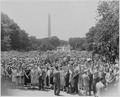Photograph of crowd on the south lawn of the White House on the occasion of Fred M. Vinson's swearing in as Chief... - NARA - 199372.tif