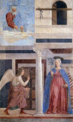 Piero della Francesca, Annunciazione, Capella Bacci, Basilica di San Francesco, Arezzo
