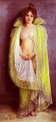 Femme en déshabillé vert by Pierre Carrier-Belleuse