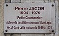 Pierre Jacob plaque - 53 rue Lepic, Paris 18.jpg