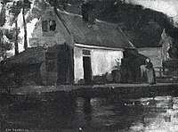 Piet Mondriaan - Small house along a canal - A154a - Piet Mondrian, catalogue raisonné.jpg