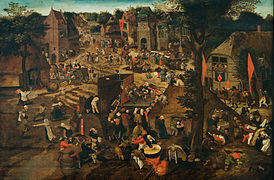 Pieter Brueghel II (The Younger) - A Village Fair (Village festival in Honour of Saint Hubert and Saint Anthony) - Google Art Project.jpg