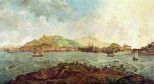 Pieter Godfried Bertichen - View of Rio de Janeiro taken from the Ilha dos Ratos by Pieter Godfried Bertichen, 1856