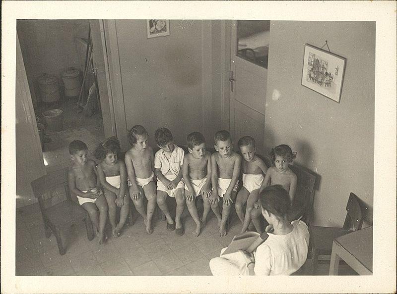 ילדים בקיבוץ גבעת השלושה הישנה