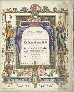 George Grossmith - 1878 programme for Cups and Saucers and H.M.S. Pinafore