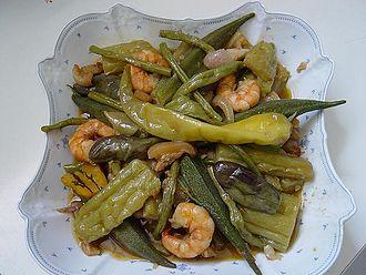 Ilocano people - Pinakbet, one of the staples of the Ilocano diet.
