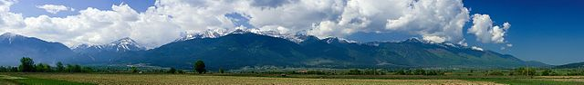 Pirin mountain, panorama view from the Razlog valley by Deyan Vasilev