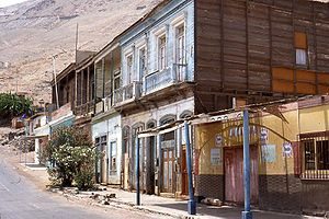 Pisagua, Chile - Abandoned houses in Pisagua