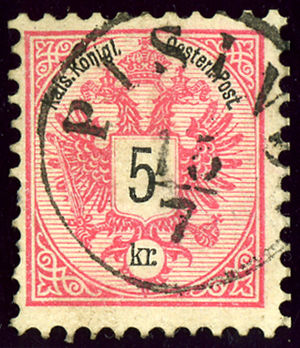 Pazin - Austrian KK issue 1883, cancelled PISINO