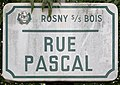 Plaque Rue Pascal - Rosny-sous-Bois (FR93) - 2021-04-15 - 1.jpg