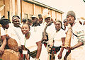 Plateau state natives in costume after a music performance posing with corp members.jpg