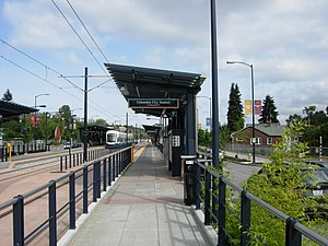 Columbia City station - The northbound platform at Columbia City Station