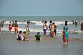 Playful People with Sea Waves - New Digha Beach - East Midnapore 2015-05-01 8686.JPG