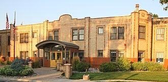 National Register of Historic Places listings in Hot Springs County, Wyoming - Image: Plaza Hotel Thermopolis WY
