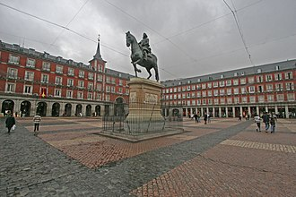 History of Madrid - Plaza Mayor, dates from 1619.