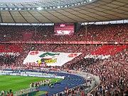 FCN-Fanblock beim Pokalfinale im Olympiastadion Berlin am 26. Mai 2007