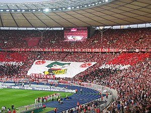 2006–07 DFB-Pokal - Fans of cup winners 1. FC Nürnberg at the final.
