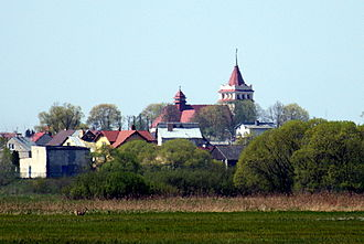 Łapy - Łapy's skyline featuring St. Peter and Paul's church