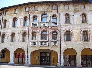 Pordenone - Palazzo Ricchieri, built in the 14th century