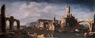 Leonardo Coccorante - Image: Port of Tarento,oil on canvas painting by Leonardo Coccorante (1738)