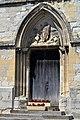Portail sud de l'église Saint-Sauveur de Beaumont-en-Auge.jpg