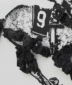 Wajid Khan (artist) - Detail of the racing horse wall sculpture