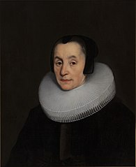 Portrait of Anna Luls (1578-1655). Wife of Diederick Hoeufft