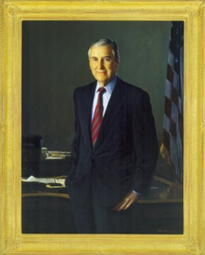 Lloyd Bentsen - Official portrait as Secretary of the Treasury